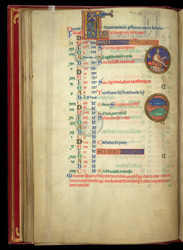 February, In The Calendar Of A Psalter Preceded By Miniatures And A Calendar